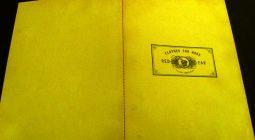 Sewn Bound book - yellow