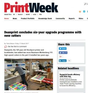 PrintWeek Freature Deanprint