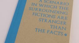 case bound book brown & blue